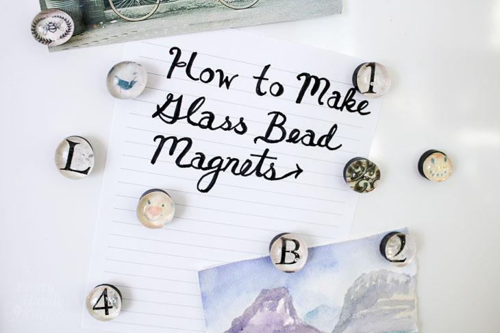 how to make glass bead magnets horizontal photo
