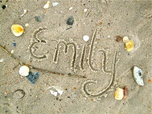 Writing in the Sand Picture