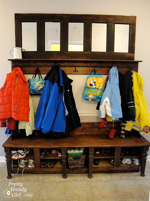 coat and shoe rack plans