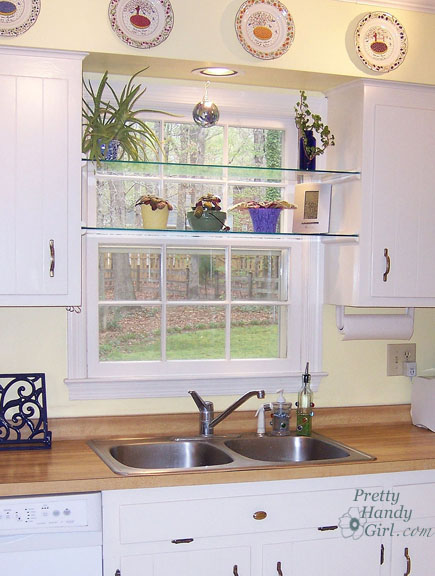 DIY Glass Window Shelves