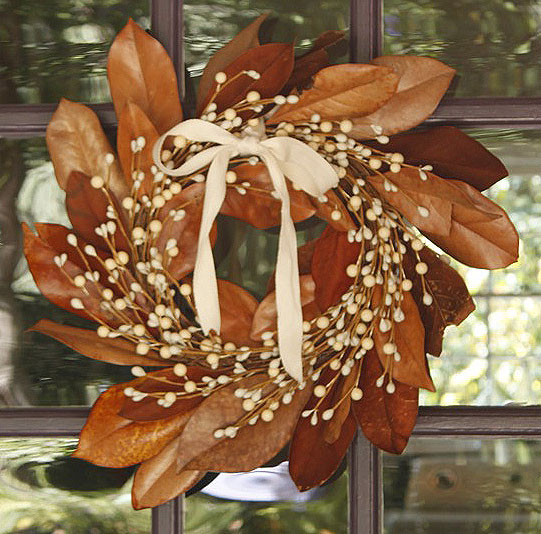 Mag-nolia-fying a Fall Wreath
