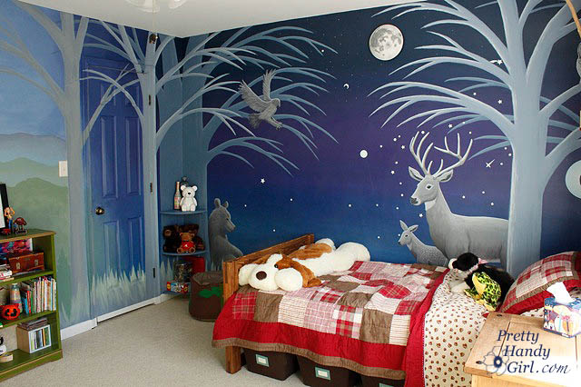 Camping Themed Boy S Room Pretty Handy Girl