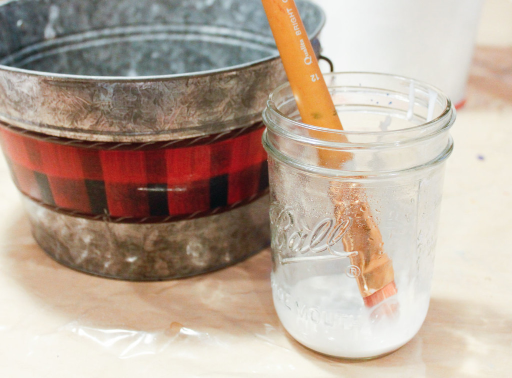 mixing glue with water