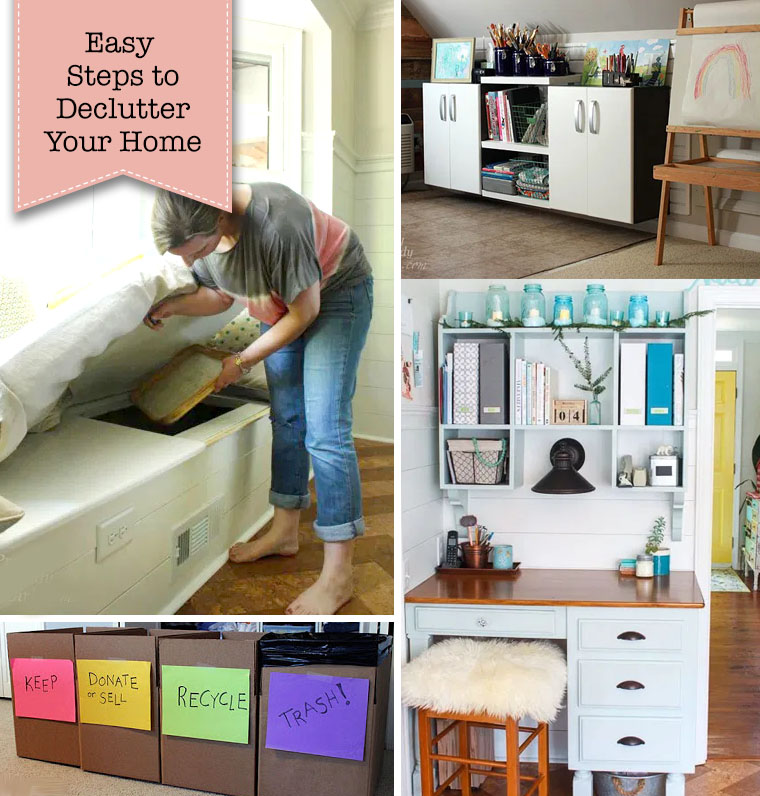 easy steps to declutter home