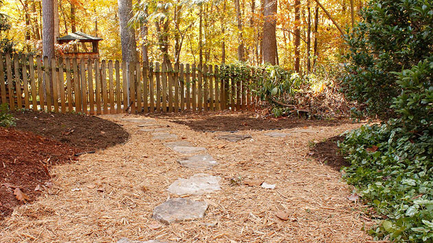 mulch stone path
