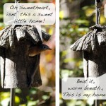 Knife Topped Birdhouse