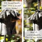 Knife Topped Birdhouse