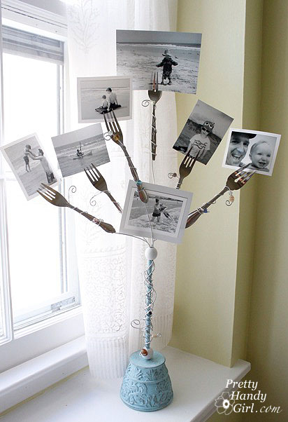 Fork Photo Holder