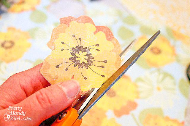 cut around flower shape