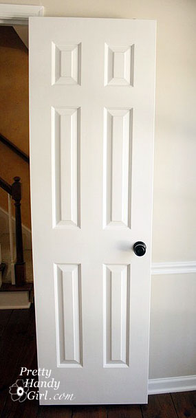How to paint doors the professional way pretty handy girl for Wood doors painted white