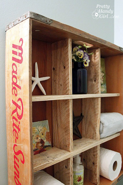 Bread Crate Cubby Display Shelves