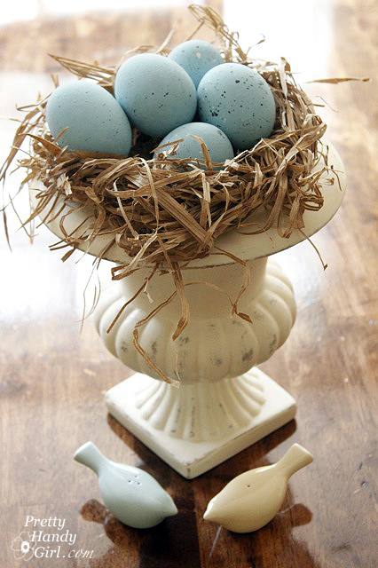 DIY Springtime and Easter Blue Bird Nest