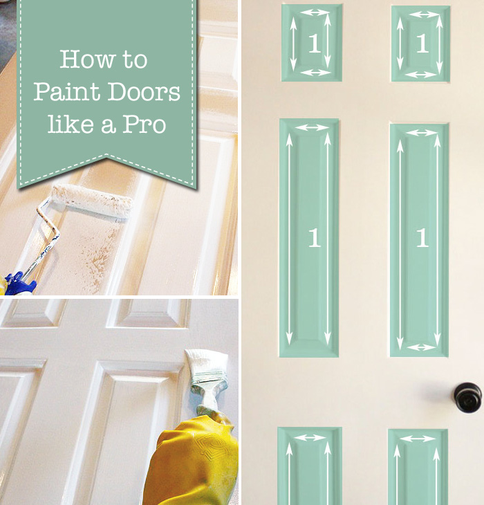 How To Paint Doors Like A Professional Pretty Handy