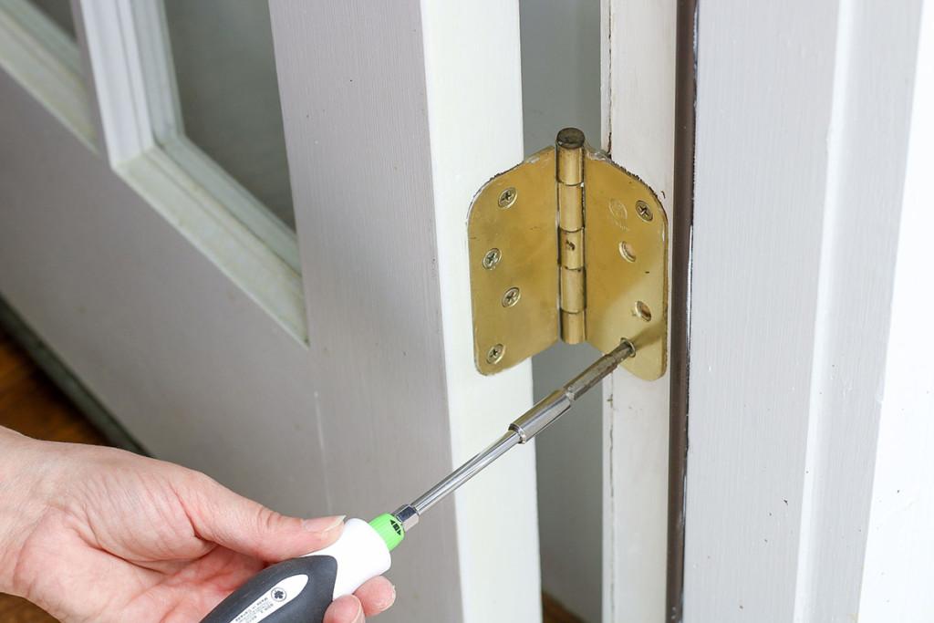 replace door hinge screws