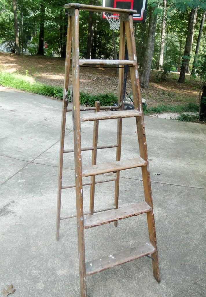 old rickety ladder