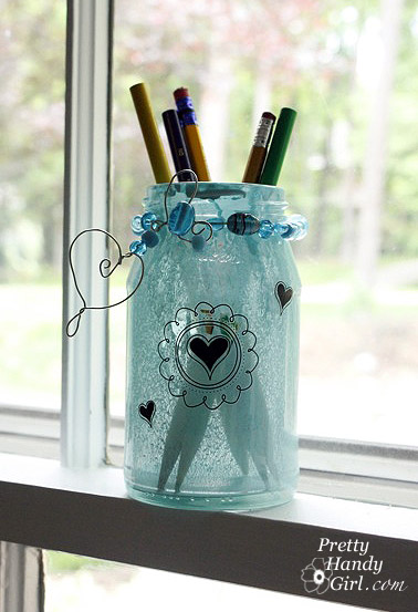 Spray Painted Glass Jars and Bottles - Pretty Handy Girl