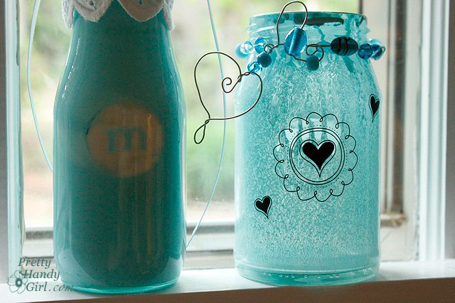Spray Painted Glass Jars And Bottles Pretty Handy Girl Extraordinary Ways To Decorate Glass Jars