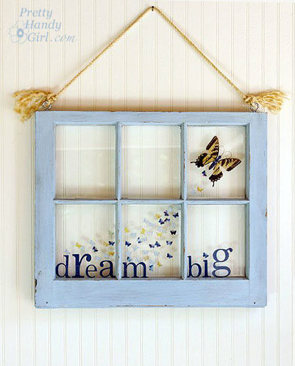 dream big butterfly window resin craft pretty handy girl. Black Bedroom Furniture Sets. Home Design Ideas