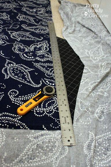 Sewing a Bench Cushion bottom panels