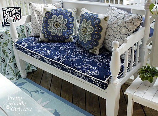 Blue Bench Cushion