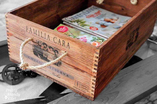 Easy Rustic Wine Crate Box