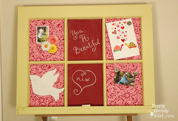 memo board and homemade chalkboard paint sawdust girl