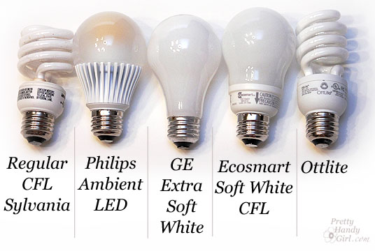 CFLs LEDs and Incandescents Oh My! u2013 A review of light bulbs  sc 1 st  Pretty Handy Girl & CFLs LEDs and Incandescents Oh My! - A review of light bulbs ...