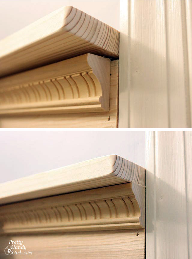 Board batten moulding tutorial pretty handy girl for Decor moulding