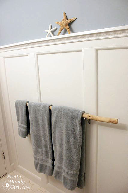 Installing A Branch Towel Bar Pretty Handy Girl