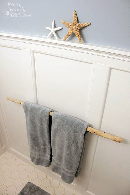 Installing a Branch Towel Bar