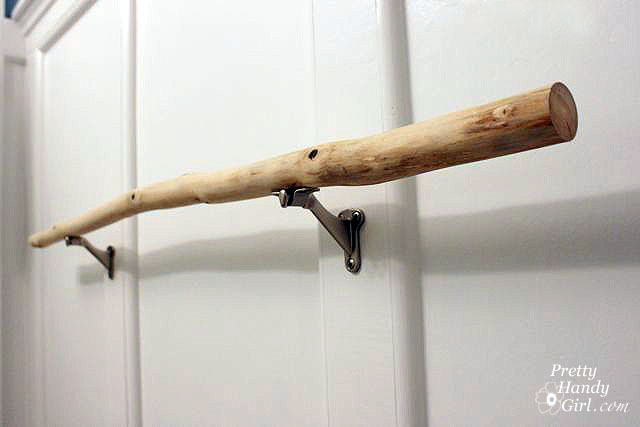 Sanding Tutorial and Prepping a Branch Towel Bar - Pretty Handy Girl