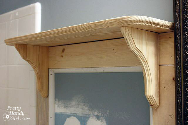 ... and then reposition the shelf on top of the board and shelf brackets