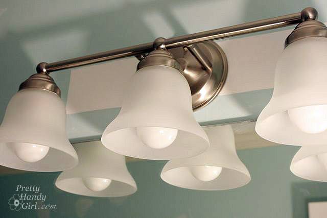 Bathroom Light Fixture With Outlet Plug: Changing Out A Light Fixture (Bye-Bye Hollywood Strip
