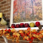Fall Mantle Decor and Vignettes