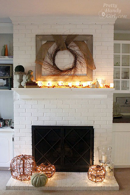 Decorating Ideas > Faux Painting Brick Archives  Pretty Handy Girl ~ 093458_White Fireplace Decorating Ideas