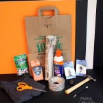 Trick or Treat Bags Using Elmer's #GlueNGlitter and Recyclables