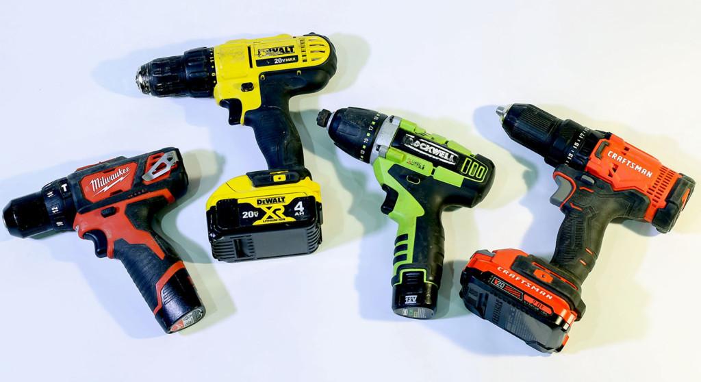 variety of cordless drills