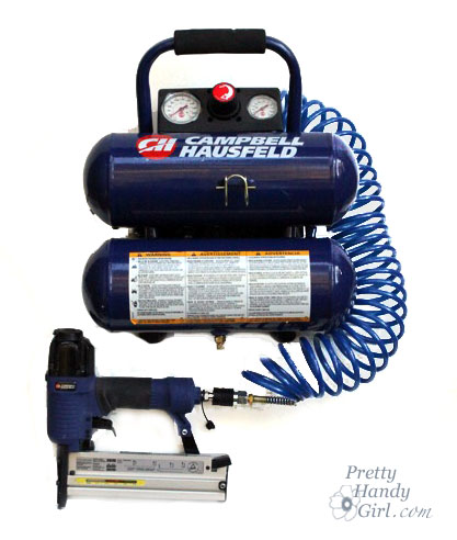 How to Use a Pneumatic Finish Nailer and Air Compressor