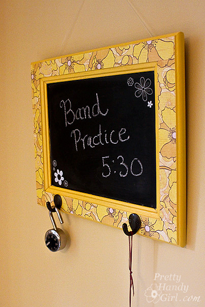 A Dry Erase Message Board From A Cabinet Door Pretty