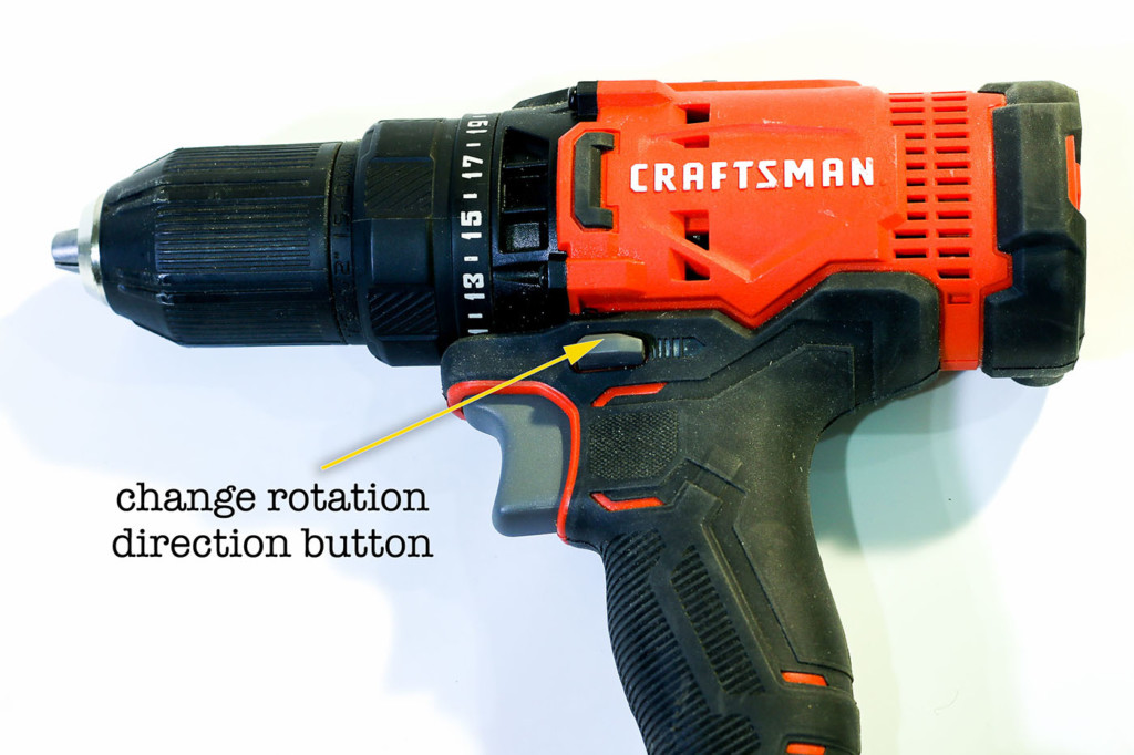 drill rotation direction button