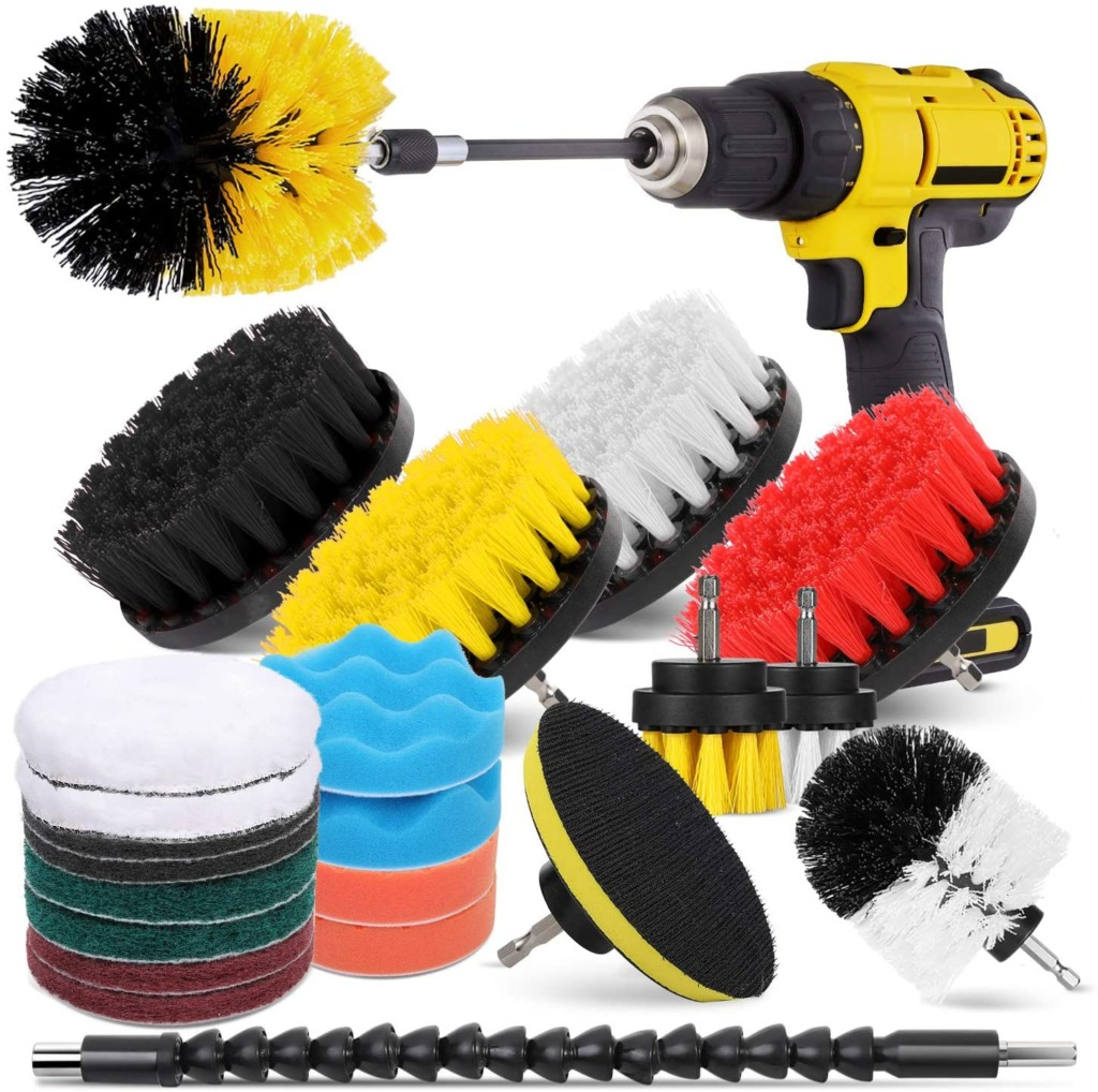 brush and buffing attachments for drill