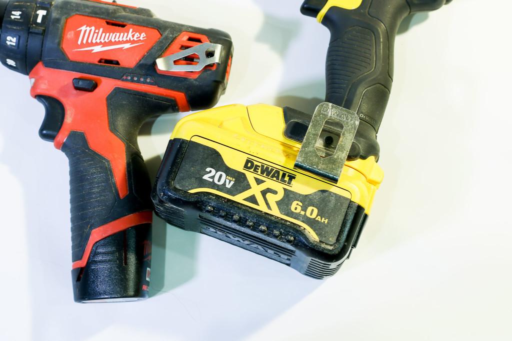 belt clips on cordless drills
