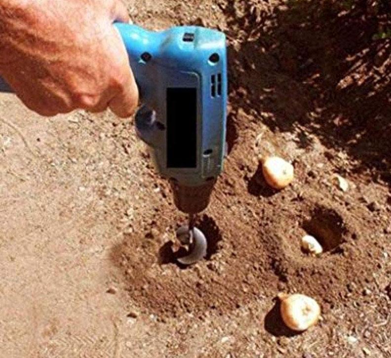 bulb planting attachment for drill