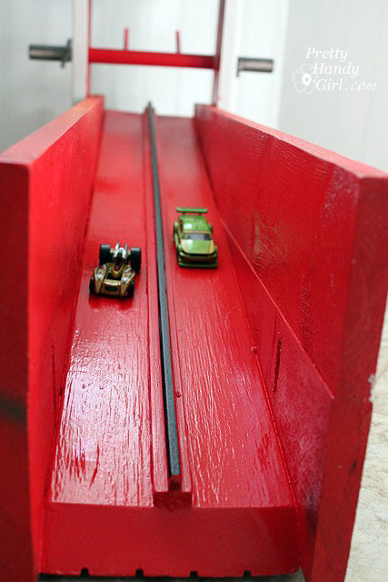 Paint And Primer >> DIY Wooden Hot Wheels Car Racing Ramp - Pretty Handy Girl