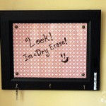 A Dry Erase Message Board from a Cabinet Door