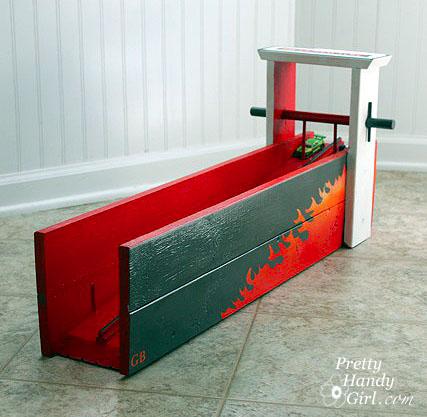 Matchbox racing ramp with flames