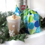 Coffee Lover's Snowflake Gift Set using Martha Stewart Craft Stencils and Paints