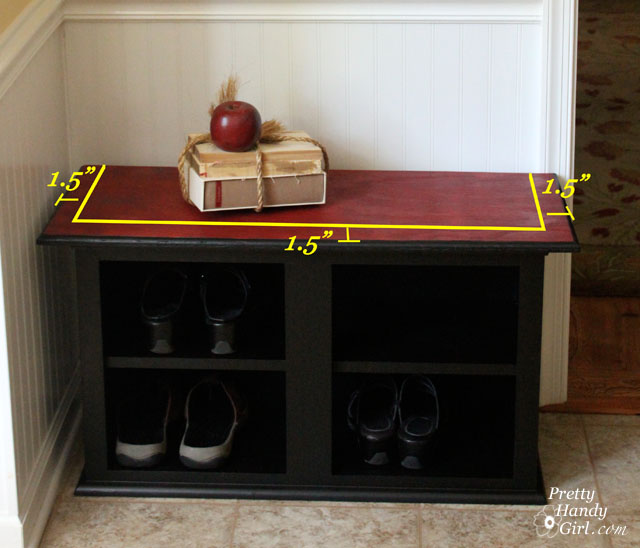 Kitchen Benchtop Storage Ideas: How To Make A Shoe Storage Bench Out Of A Habitat ReStore