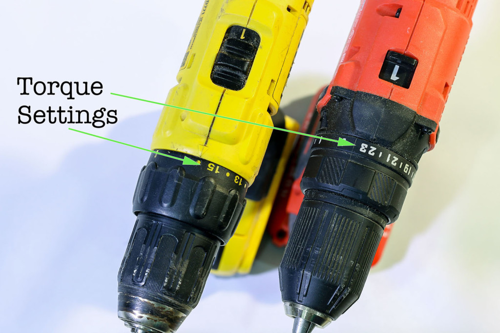 torque settings on drill