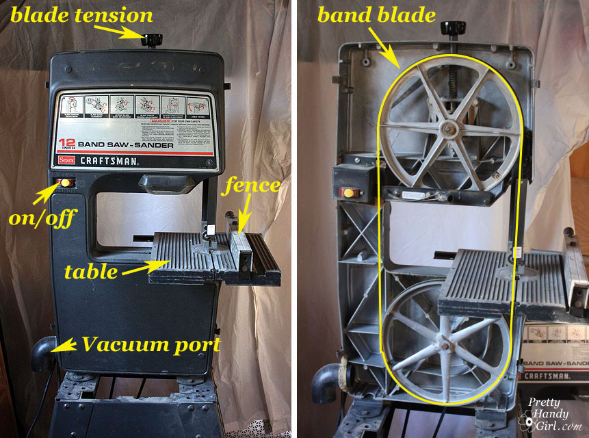 Tool tutorial friday how to use a band saw pretty handy girl save greentooth Image collections